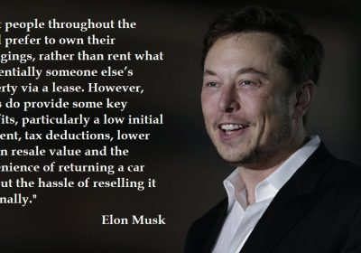 Elon Musk on the benefits of the leasing service
